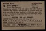 1952 Bowman Large #56  Tobin Rote  Back Thumbnail