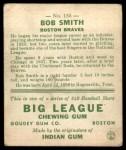 1933 Goudey #185  Bob Smith  Back Thumbnail