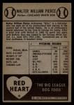 1954 Red Heart  Billy Pierce  Back Thumbnail