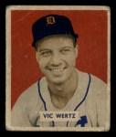 1949 Bowman #164  Vic Wertz  Front Thumbnail