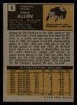 1971 Topps #6  Chuck Allen  Back Thumbnail