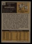 1971 Topps #40  Tom Woodeshick  Back Thumbnail