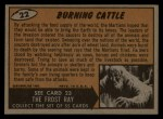 1962 Topps / Bubbles Inc Mars Attacks #22   Burning Cattle Back Thumbnail
