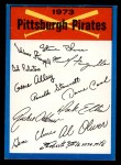 1973 Topps Blue Checklist   Pirates Front Thumbnail