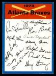 1973 Topps Blue Checklist   Braves Front Thumbnail