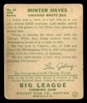 1934 Goudey #63  Minter Hayes  Back Thumbnail