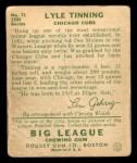 1934 Goudey #71  Lyle Tinning  Back Thumbnail