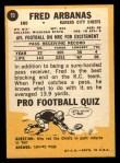 1967 Topps #70  Fred Arbanas  Back Thumbnail