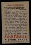 1951 Bowman #69  John Strzykalski  Back Thumbnail