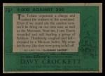 1956 Topps Davy Crockett Green Back #76   5000 Against 200 Back Thumbnail