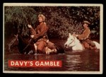 1956 Topps Davy Crockett Green Back #11   Davy's Gamble  Front Thumbnail