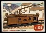1955 Topps Rails & Sails #28   Electric Locomotive Front Thumbnail