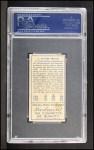 1911 T205  Clyde Milan  Back Thumbnail