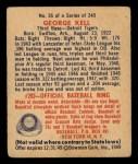 1949 Bowman #26  George Kell  Back Thumbnail