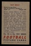 1951 Bowman #50  Ray Bray  Back Thumbnail