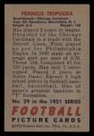 1951 Bowman #29  Frank Tripucka  Back Thumbnail