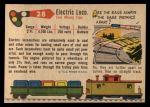 1955 Topps Rails & Sails #28   Electric Locomotive Back Thumbnail