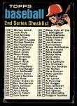 1971 Topps #123 B  Checklist 2 Front Thumbnail