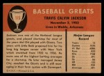 1961 Fleer #115  Travis 'Stonewall' Jackson   Back Thumbnail