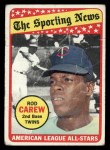1969 Topps #419   -  Rod Carew All-Star Front Thumbnail