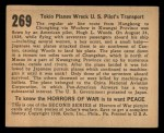 1938 Gum Inc. Horrors of War #269   Tokio Planes Wreck U.S. Pilot's Transport Back Thumbnail