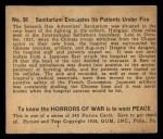 1938 Gum Inc. Horrors of War #36   Sanitarium Evacuates Its Patients Under Fire Back Thumbnail