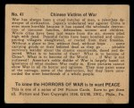 1938 Gum Inc. Horrors of War #41   Chinese Victims of War Back Thumbnail