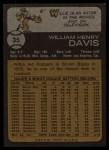 1973 Topps #35  Willie Davis  Back Thumbnail