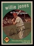 1959 Topps #208  Willie Jones  Front Thumbnail