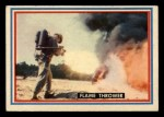 1953 Topps Fighting Marines #9   Flame Thrower Front Thumbnail