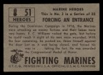 1953 Topps Fighting Marines #51   Forcing An Entrance Back Thumbnail