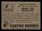 1953 Topps Fighting Marines #1   Firing The Howitzer Back Thumbnail