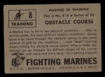 1953 Topps Fighting Marines #8   Obstacle Course Back Thumbnail