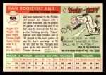 1955 Topps #59  Gair Allie  Back Thumbnail