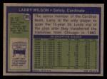 1972 Topps #205  Larry Wilson  Back Thumbnail