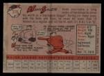 1958 Topps #378  Hank Sauer  Back Thumbnail