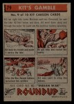 1956 Topps Round Up #79   -  Kit Carson Kits Gamble Back Thumbnail