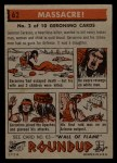 1956 Topps Round Up #62   -  Geronimo  Massacre Back Thumbnail