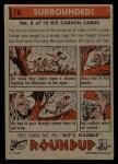 1956 Topps Round Up #78   -  Kit Carson Surrounded Back Thumbnail