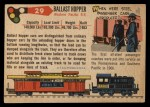 1955 Topps Rails & Sails #29   Ballast Hopper Car Back Thumbnail