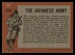 1965 Topps Battle #58   The Japanese Army  Back Thumbnail