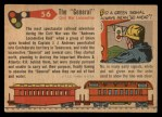 1955 Topps Rails & Sails #56   The General Back Thumbnail