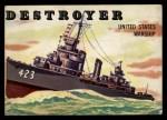 1955 Topps Rails & Sails #133   Destroyer Front Thumbnail