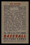 1951 Bowman #240  Joe Haynes  Back Thumbnail