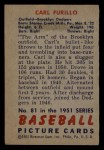 1951 Bowman #81  Carl Furillo  Back Thumbnail