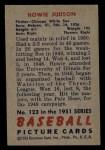 1951 Bowman #123  Howie Judson  Back Thumbnail
