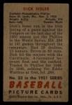 1951 Bowman #52  Dick Sisler  Back Thumbnail