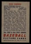 1951 Bowman #202  Mike Guerra  Back Thumbnail
