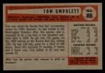 1954 Bowman #88  Tom Umphlett  Back Thumbnail