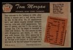 1955 Bowman #100  Tom Morgan  Back Thumbnail
